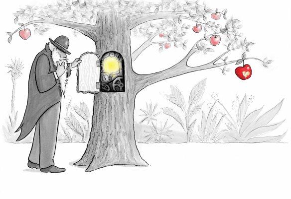 Darwin Pondering the Inner Workings of the Tree of Knowledge